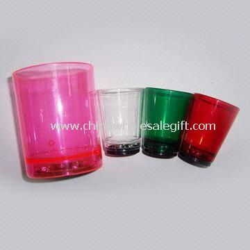 Flashing Shot Acrylic Glass Cups