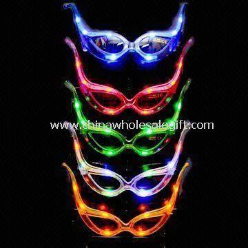 Glow LED Flashing Sunglasses Can Block Intense Sunlight