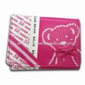 Womens PU Leather Wallet with Printing and 100% Nylon Lining images