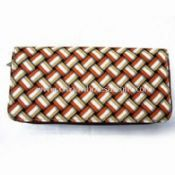Womens PU Wallet with Stripe and 100% Nylon Lining images