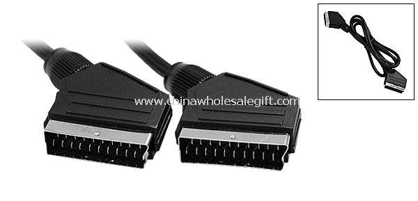 scart auf extention cord kabel anschluss schwarz scart scart kabel. Black Bedroom Furniture Sets. Home Design Ideas