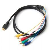 Gold HDMI to 5 RCA 5RCA Adapter AV Cable images