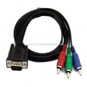 SVGA to 3RCA AV Audio Video M/M Cable images