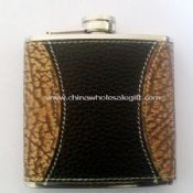 285ml Leather-wrapped Hip Flask images