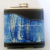 Leather-wrapped 4oz Hip Flask images