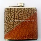 Leather-wrapped 6oz Hip Flask images