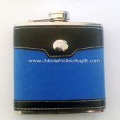 Leather-wrapped 8oz Hip Flask images