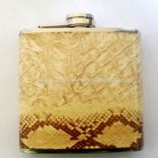 Leather-wrapped Hip Flask images