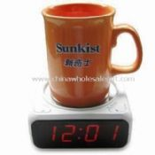 Novelty LED Clock with Heater and Two Alarms images