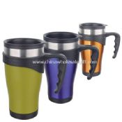 Double wall Stainless Travel Mug With Handle images