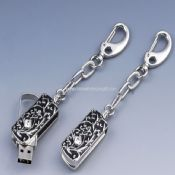 Keychain jewelry flash memory images