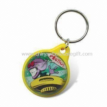 Bubble Liquid Keychain with 3D Floater