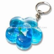 Acrylic Photo Keychain with Liquid and Floater Inserted images