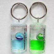 Liquid Acrylic Aqua-style Key Chain With Customized Designs images