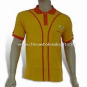 Mens Short-sleeved Polo Shirt Made of 100% Mesh Cotton images