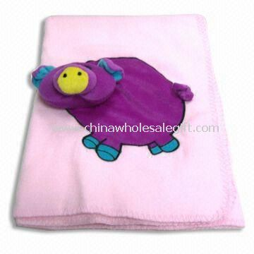 Soft Baby Blanket with Embroidery Made of 100% Polyester