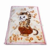 Printed Baby Blanket Made of 100% Cotton Knitted images