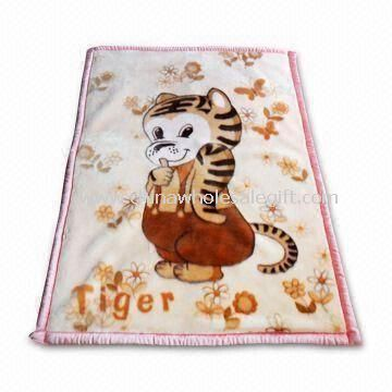 Printed Baby Blanket Made of 100% Cotton Knitted