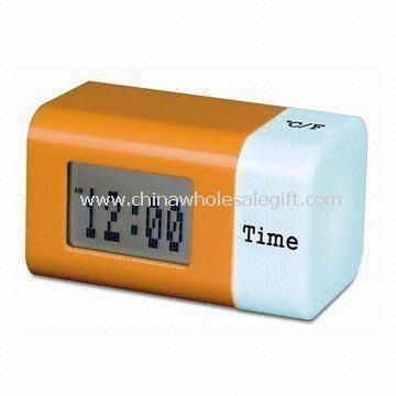 Digital Clock with Changing Color Effect and Large Space for Printing