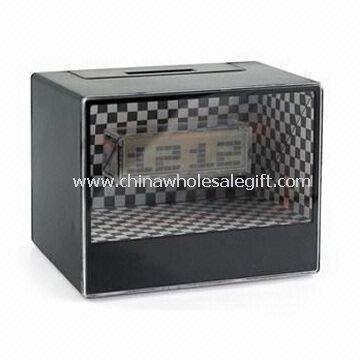 Digital Clock with Money Box Made of Plastic