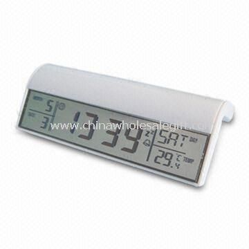 Magic Mirror Digital Clock Made of Plastic and Large Space for Printing