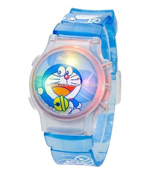 Flip Top Bubble Watch with flashig light