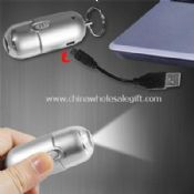 USB Rechargeable Flashlight with Key Ring images