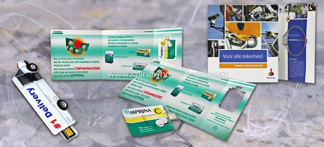Paper Web Key Brochure USB Flash Drive