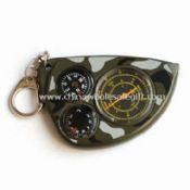 Odograph with Compass and Thermometer with Metal Keychain images