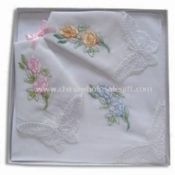 Embroidery Handkerchiefs with Lace Corner images