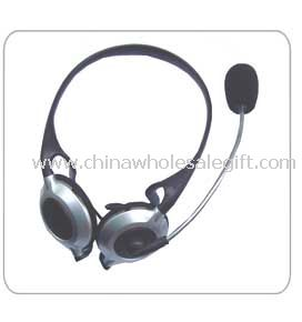 Behind-the-neck design with in-line mic Computer Headphone