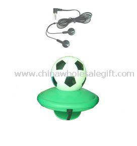 FM function football shape headphone