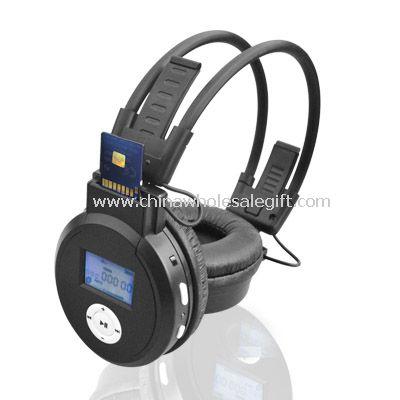 Adjustable headband SD Card Headphone