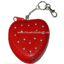Heart PVC leather wallets images
