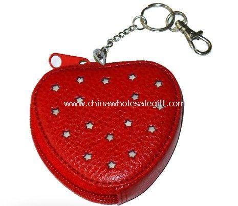 Heart PVC leather wallets