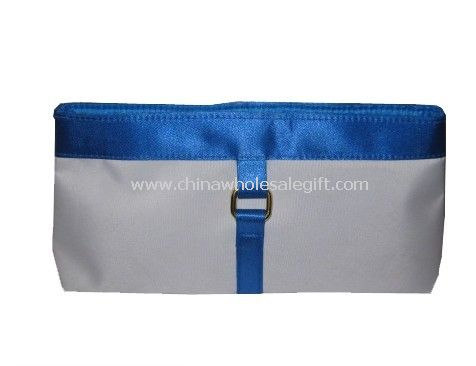microfiber with satin Cosmetic Bag
