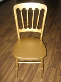 gold chateau chair