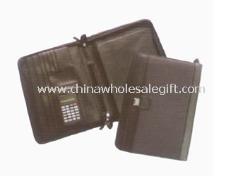 Leather Conference Folders with Calculator