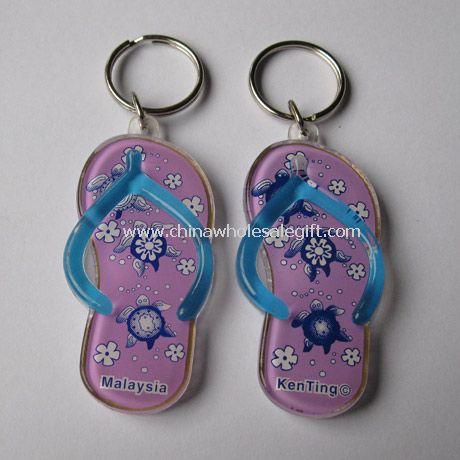Acrylic slipper keychain
