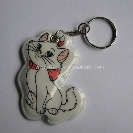 Cat PVC keychain light