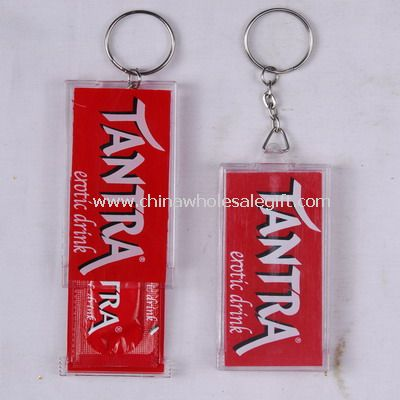 Condom holder with key ring