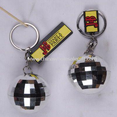 Disco ball shape keychain