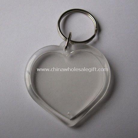 Heart Acrylic photo frame with key ring