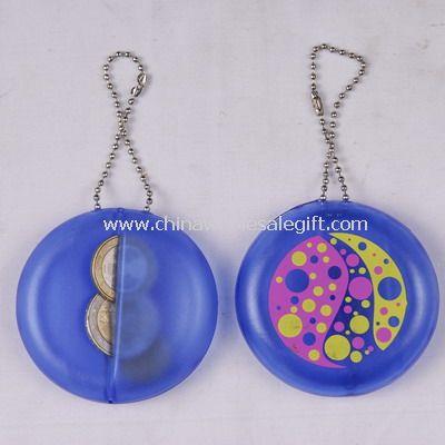 Keychain PVC coin holder