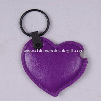 Leather heart key light