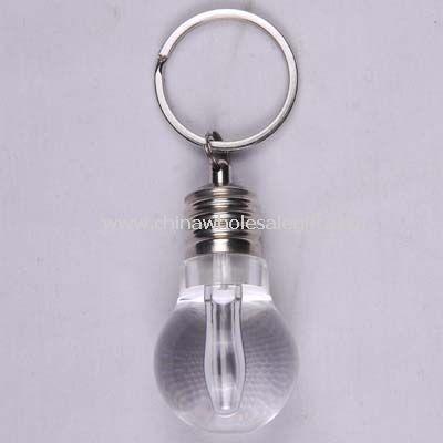Led keychain light in bulb shape