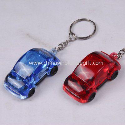 Led keychain light in car shape