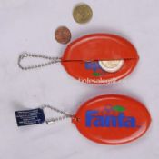 PVC coin holder with key ring images