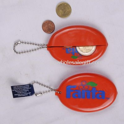 PVC coin holder with key ring