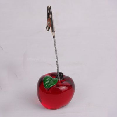 Memo holder in apple shape